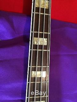 Frankenbass 4-string Danelectro Body Fender Copy Neck- Shaller Tuners 2-jacks
