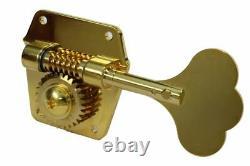 GOTOH GBR640 Super Light Weight Bass Guitar Reverse Wind Tuning Machine GOLD