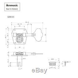 Genuine GOTOH GB640 RES-O-LITE Super Light Weight Bass Guitar Tuner Machine Head