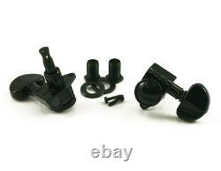 Genuine Grover 502BC Roto-Grip Locking Rotomatic 3x3 tuners, Black Chrome