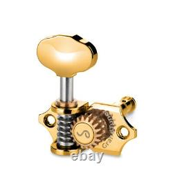 Genuine Schaller Germany Grand Tune Tuners 3x3 Gold, Butterbean Buttons 10510523