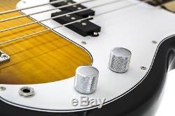 Glen Burton GB150 Deluxe P-Style Bass Combo Flamed Sunburst with 15w Amp + Tuner