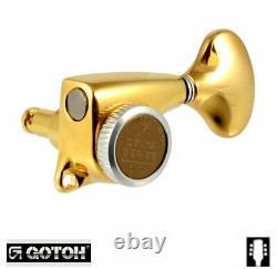 Gotoh 510-MGT Delta Series 3x3 Locking Tuners 211 Gold TK-7247-002