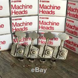 Gotoh 60s Precision Bass Tuners Aged Nickel 1950s 60s Fits Fender Jazz Bass