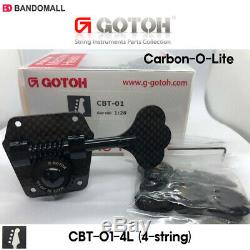 Gotoh CBT-01-4L Bass 4-string CARBON-O-LITE 4 In Line Bass Tuners