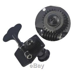 Gotoh GB640 4 In-Line Right Handed Bass Tuners Machine Heads Tuning Pegs Black