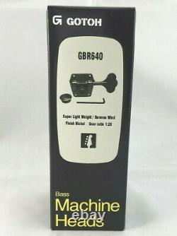 Gotoh GBR-640N Bass Guitar Tuners Reverse Gear Res-o-lite Nickel 4L