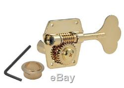 Gotoh GBR640 Reverse Wind Bass Guitar Tuners Left Side Gold