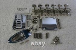 Gotoh Hardtail Chrome Stratocaster Body Hardware Set w Tuners Fender SB-5115-010