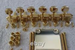 Gotoh Hardtail Gold Stratocaster Body Hardware Set w Tuners Fender SB-5115-002