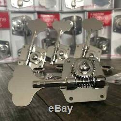 Gotoh Res-o-lite Bass Tuners Nickel Precision Jazz Bass Tuners Fits Fender