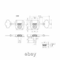 Gotoh Vintage Reverse Gear Bass Tuners Open Nickel