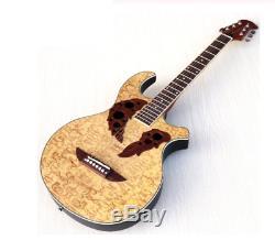 Guitar 6 String Gloss Folk EQ Tuner Function 38 inch Round Back Electric