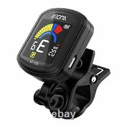 Guitar Tuner Clip on Instrument Tuner Rechargeable Bass Tuner Anti-scratch