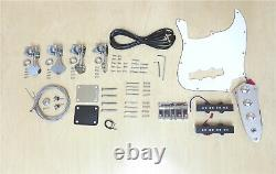HSJB 19580 Complete No-Soldering 4-String Bass Guitar DIY Kit, Basswood Body