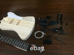 HSTB 1910 Solid Basswood Electric Bass Guitar DIY Kit No-Soldering, Tuner, 3 Pick