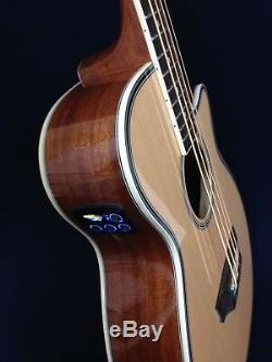 Haze 4/4 Acoustic Bass Guitar withEQ, Built-in Tuner, 4-String+Free Bag FB-711BCEQ/N