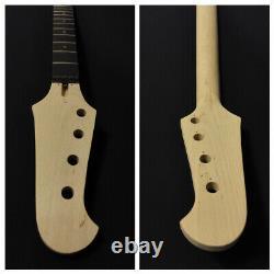 Haze 4-String Electric Bass Guitar DIY, No-Soldering, H-H, Black Hardware TB 1910