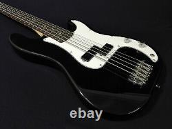 Haze 5-String Electric Bass Guitar, Gloss Black+Free Bag, Tuner, Picks. PB 1901BKBH5