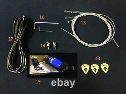 Haze B-303DIY Electric Bass Guitar DIY Kit, No-Soldering +Free Tuner, 3 Picks