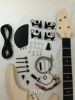 Haze B-325DIY Electric Bass Guitar DIY Kit, No-Soldering+Free Tuner, 3 Picks