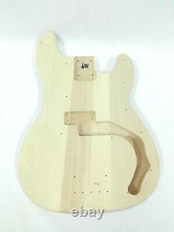 Haze HSPB 1910 No-Soldering Design 4-String Electric Bass Guitar DIY, Solid Body