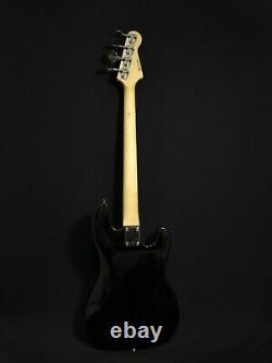 Haze Left-Handed 4-String Electric Bass Guitar, Gloss Black+Free Bag. PB 1901BKBHL