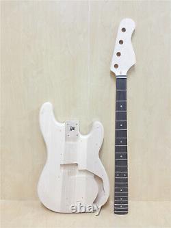 Haze PB 1910 Complete No-Soldering Electric Bass Guitar DIY, S-S Pickups+3 Picks