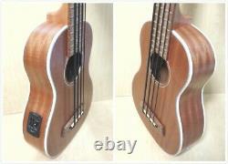 Haze UB30EQ All-Mahogany Electro-Acoustic Bass Ukulele withBuilt-in EQ/Tuner+Strap