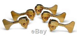 Hipshot HB6Y-1/2 Ultralite Bass Guitar Tuners GOLD, Y Key, 5 STRING SET