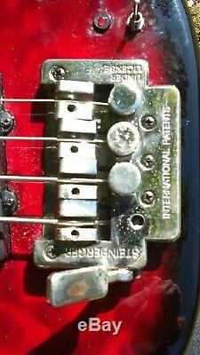 Hohner B Bass Q-Steinberger DB Bridge Drop Tuner Easy Project that plays-gigbag