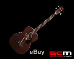 IBANEZ PCBE12MH ELECTRO-ACOUSTIC BASS GUITAR OPEN PORE MAHOGANY withPICKUP + TUNER