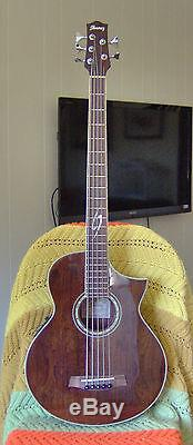 Ibanez 5 String Acoustic Bass Guitar EWB205WNENT1201 with Hardshell Case Tuner