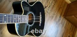 Ibanez AEB10BE-BK Acoustic Electric Bass Guitar