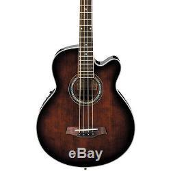 Ibanez AEB10E A/E Bass Guitar with Onboard Tuner Dark Violin Sunburst LN