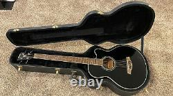 Ibanez AEB10E Acoustic Electric Bass Guitar, Black, Hard Case, On-board Tuner