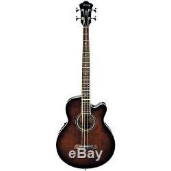 Ibanez AEB10E Acoustic-Electric Bass Guitar Onboard Tuner Dark Violin Sunburst