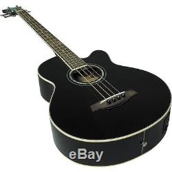 Ibanez AEB10E Acoustic-Electric Bass Guitar with Onboard Tuner Gloss Black