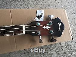 Ibanez AEB10E Acoustic-Electric Bass Guitar with Onboard Tuner needs set up