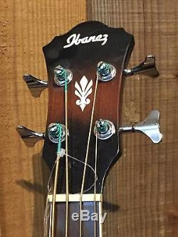 Ibanez AEB10E DVS Acoustic Electric Bass Guitar withOnboard Tuner -Dark VS