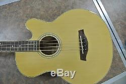 Ibanez AEB5E NT-3U-01 Natural 4-String Acoustic Bass Guitar with EQ & Tuner