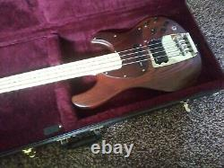 Ibanez ATK 800 bass Walnut Active EQ Hipshot tuners Mint Condition OHSC