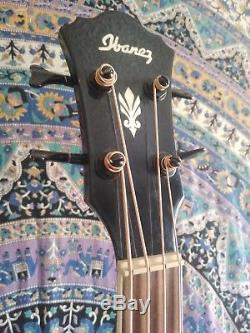 Ibanez Acoustic Electric Bass Guitar (Built in Tuner) model AEB10BE Black