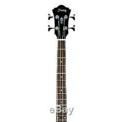 Ibanez Acoustic-Electric Bass Guitar w. Cloth, Tuner, Picks, Stand & Case