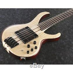 Ibanez BTB33 5-String Electric Bass Guitar Flat Natural withtuner, Gigbag + More