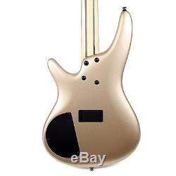 Ibanez Champagne Gold SR300ECGD Electric bass Guitar withHardcase, Tuner + More