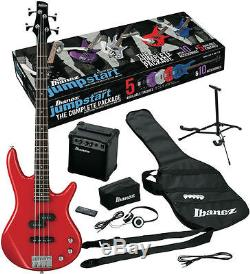 Ibanez Electric Bass Guitar Gig Bag Amp Tuner IJXB Pack Red IJXB150BRD