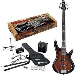 Ibanez Electric Bass Guitar Gig Bag Amp Tuner IJXB Pack Walnut Sun IJXB150BWNS