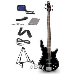 Ibanez GSR200 4-String Bass Guitar With FREE Tuner, Stand & Accessories Black
