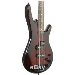 Ibanez GSR200 GIO 4-String Electric Bass Guitar Brown withClip on Tuner & Cable